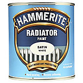 Hammerite Smooth Satin White Radiator Paint 500Ml