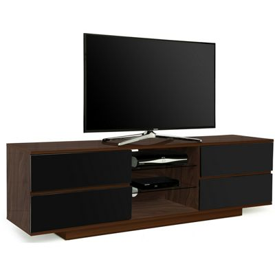 MDA Avitus Walnut and Black TV Cabinet For Up To 65 inch TVs