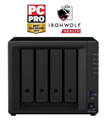 Synology DiskStation DS418play/24TB-IW 4-Bay 24TB(4x6TB Seagate IronWolf) multimedia-enhanced personal cloud solution