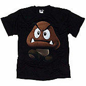 Super Mario T-Shirt Mushroom Black - Small - Gaming T-Shirts