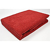 Mason Grey Chenille Spot Red Throw - 180x125cm