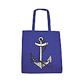 Anchor - Nautical Design Blue Tote Bag