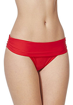 F&F Shaping Swimwear Fold-Over Bikini Briefs - Red