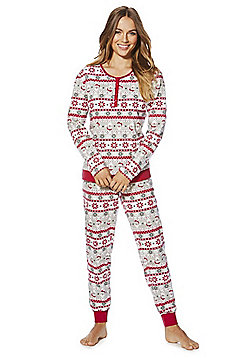 F&F Fair Isle Christmas Pyjamas - Red