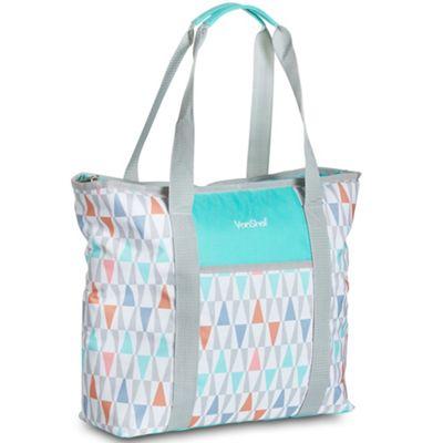 VonShef 22L Tote Bag Large Insulated Handbag - Aqua Geo