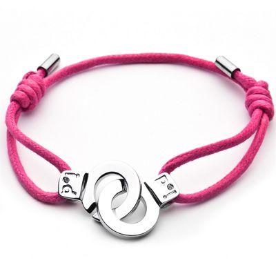 Cuffs of Love Cord Bracelet - Pink Medium