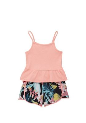 F&F Cami Top and Floral Shorts Set Multi 5-6 years