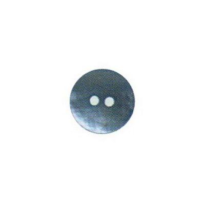 Hemline Two Hole Sky Blue Buttons 22.5mm 2pk
