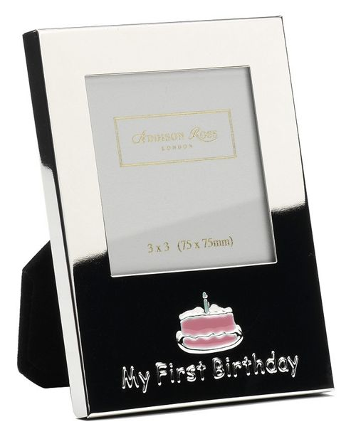 Addison Ross Baby Enamel Photo Frame Girl My First Birthday Frame