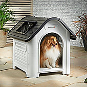 Milo & Misty Medium Plastic Dog House - Outdoor Kennel for Pet Shelter