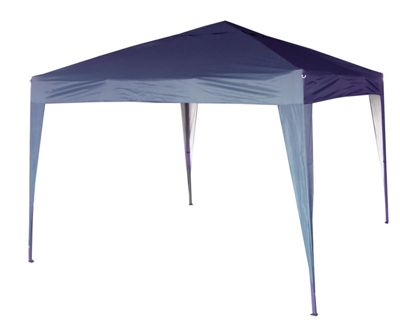 3x3m Pop-up Gazebo Waterproof Outdoor Garden Marquee No Side's (Blue)
