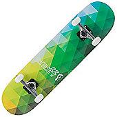 Enuff Geometric Green 7.75 Inch Complete Skateboard