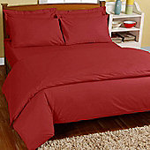 Homescapes Red Egyptian Cotton Duvet Cover with Pillowcases 200 TC, Double