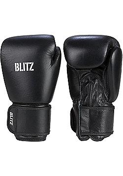 Blitz - Standard Leather Boxing Gloves - Black