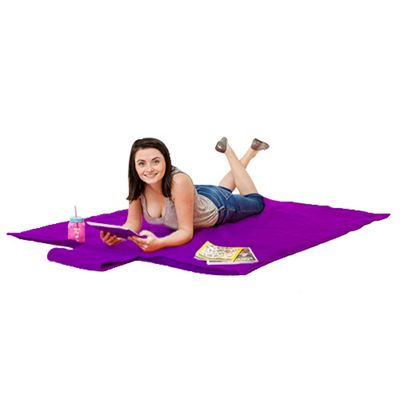 Gardenista Purple Water Resistant Roll Up Picnic Mat with carry Handle