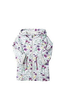 F&F Shower Resistant Floral Hooded Mac - Multi