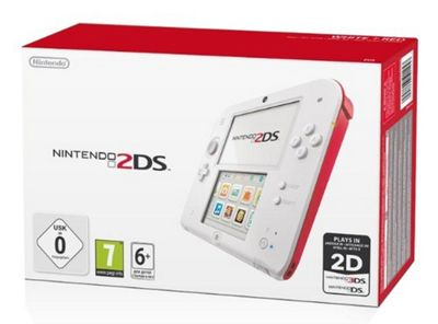 Nintendo 2DS - White & Red