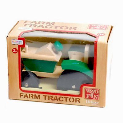 Traditional Wood 'n' Fun Farm Tractor Green 3y+