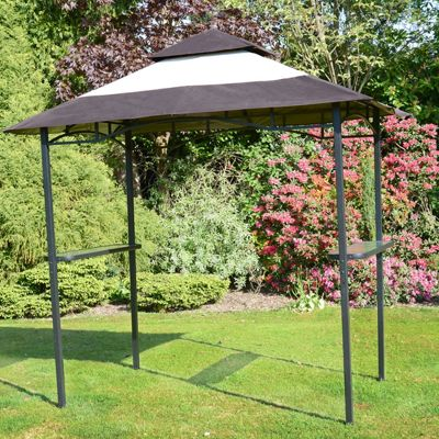 BBQ Gazebo Shelter - Steel Frame Barbecue Bar u0026 Party Shelter : bbq canopy - memphite.com