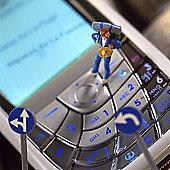 Holy Mackerel Mobile Roaming. Hiking On A Phone Greetings Card
