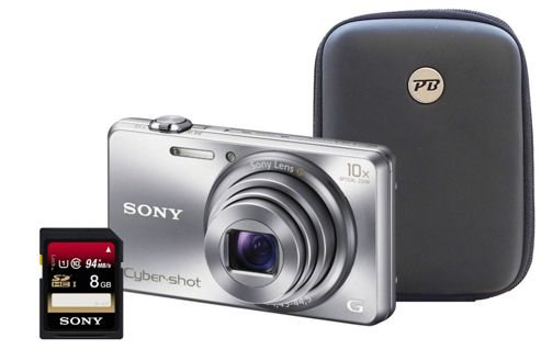 Sony DSC-WX200 3D Silver Camera Kit inc 8GB Class 10 SD Card and Hard Case