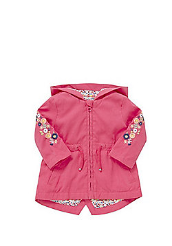 F&F Embroidered Lightweight Mac - Pink