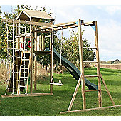 Action Monmouth Monkey Bars Wooden Climbing Frame with Swing, Slide and Climbing Wall