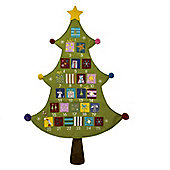 Green Felt Christmas Tree Advent Calendar