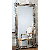 Large Silver Decorative Ornate Wall Mirror 5Ft5 X 2Ft7 (168Cm X 78Cm) New