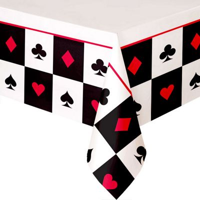 Casino Tablecover - Plastic Party Cover