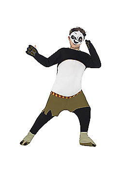 Kung Fu Panda Kids Po Costume - Black, White & Green