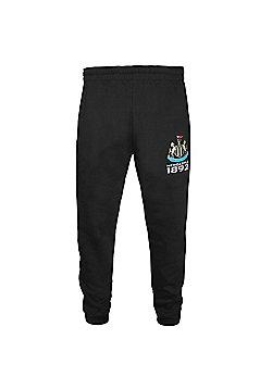 Newcastle United FC Boys Slim Fit Jog Pants - Black