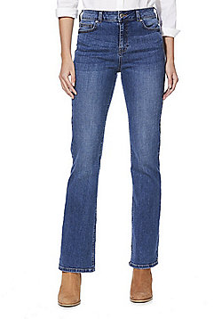 F&F Mid Rise Bootcut Jeans - Mid wash