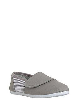 F&F Striped Canvas Shoes - Natural