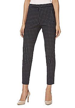 F&F Geo Print Skinny Trousers - Blue & Multi