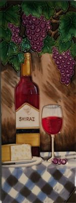 YH Arts Ceramic Wall Art, Shiraz 6 x 16