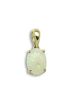 Jewelco London 18 Carat Yellow Gold 71pt Opal Claw Set Pendant