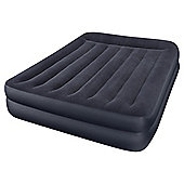 Intex Queen Pillow Rest Raised Fiber-Tech Airbed with  Built-in Pump