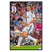 Real Madrid Gloss Black Framed Gareth Bale Poster