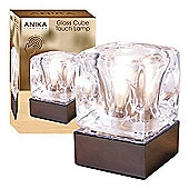 Anika 36290 Ice Cube Touch lamp Light, Glass, Silver