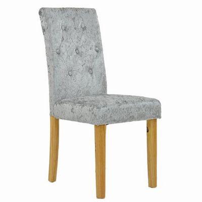 Langford Dining Chair Crushed Velvet Silver
