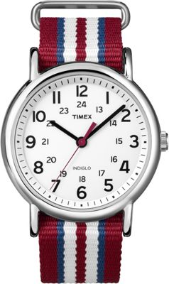 Timex T2N746 Round Fabric Strap Watch
