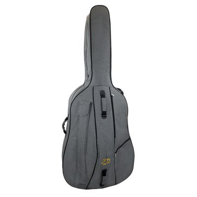 Tom and Will 3/4 Size Padded Double Bass Bag - Grey