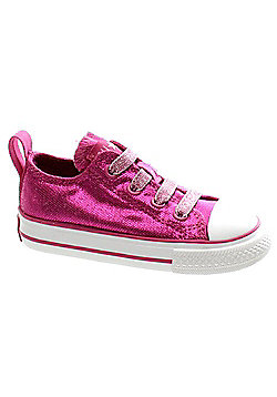 Converse Chuck Taylor Stretch Ox Raspberry/Rose Toddler Shoe 730295 - Pink
