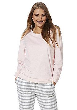 F&F Fleece Lounge Sweatshirt - Pink