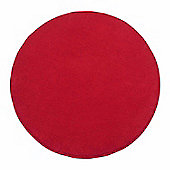 Homescapes Hand Tufted Plain Cotton Red Large Round Rug, 70 cm Diametre