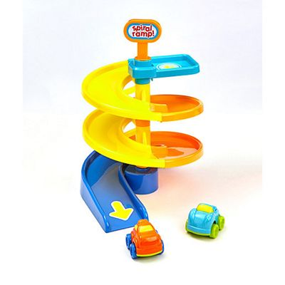 Busy Whizzy Wheels Spiral Ramp Playset