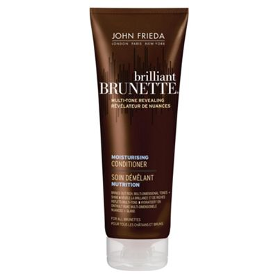 John Frieda Brilliant Brunette Moisturising Conditioner for All Brunettes Shades 250ml