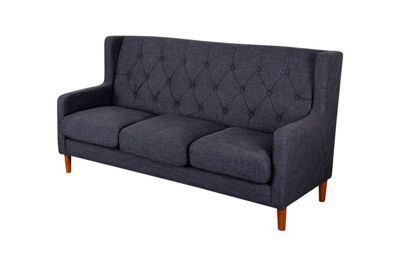 Oxford Sofa Set 1,2 ,3 Seat Sofas - Dark Grey