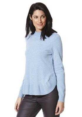 Vero Moda Ruffled Hem Jumper Blue XS